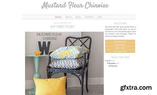 Mustard Blogger Template - CM 431576