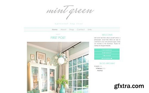Mint Blogger Template - CM 431835
