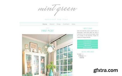 Mint Blogger Template - CM 431835
