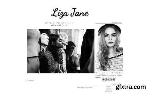 Liza Jane Blogger Template - CM 431844