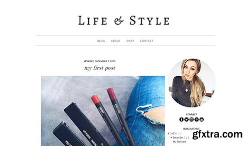 Life & Style Blogger Template - CM 463684