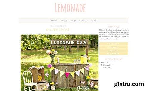 Lemonade Blogger Template - CM 431591