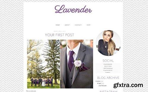 Lavender Blogger Template - CM 431838