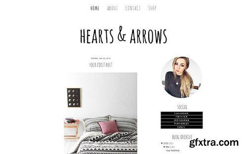 Hearts and Arrows Blogger Template - CM 431827