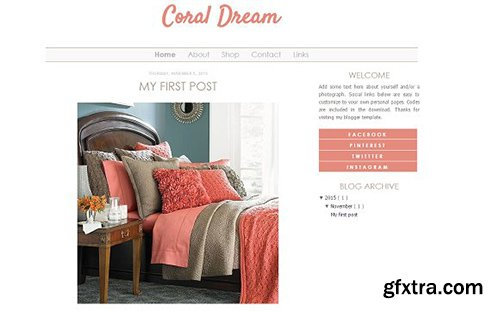 Coral Blogger Template - CM 431720