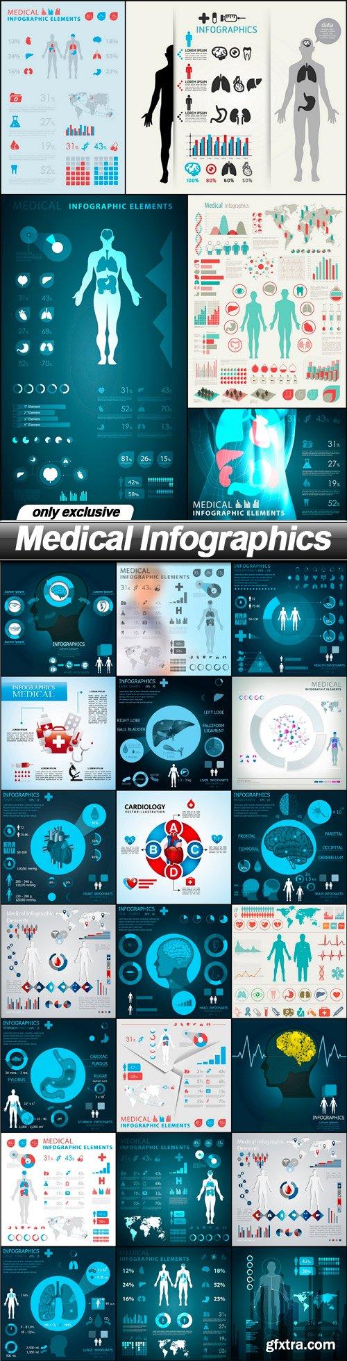 Medical Infographics - 25 EPS