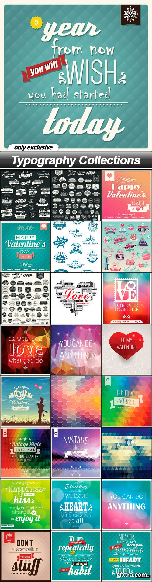 Typography Collections - 25 EPS