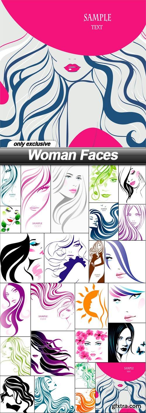 Woman Faces - 25 EPS