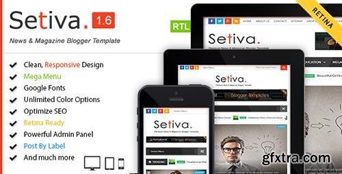 ThemeForest - Setiva v1.6 - Responsive Magazine Blogger Template - 9943134