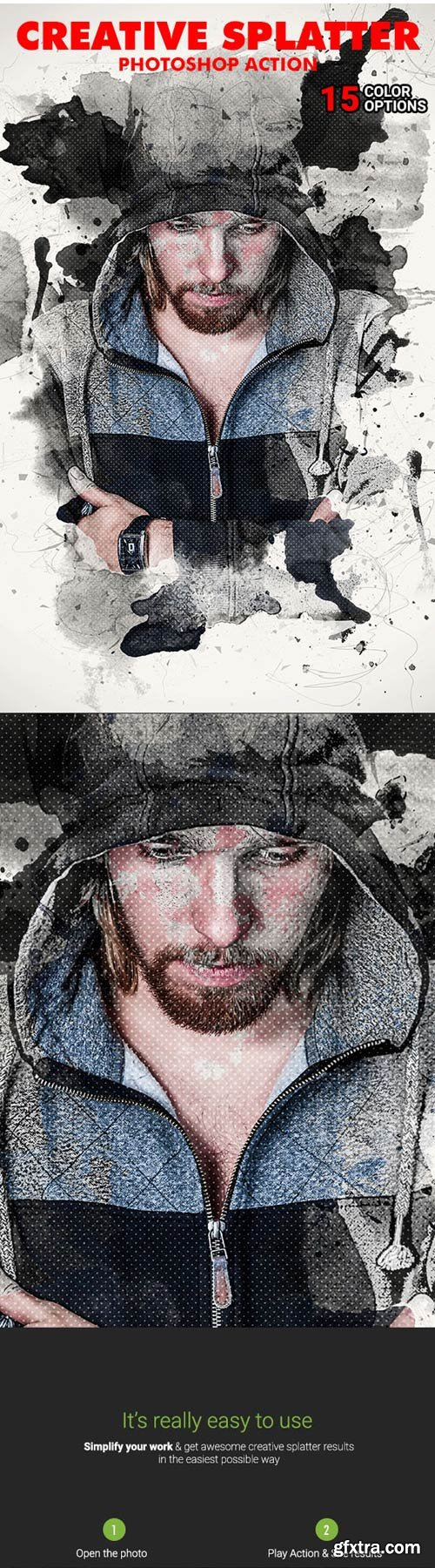 GraphicRiver - Creative Splatter Photoshop Action - 20088983
