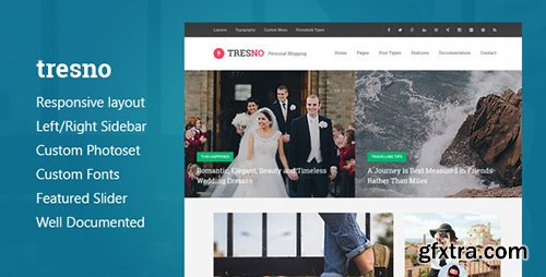 ThemeForest - Tresno - Personal Blog Tumblr Theme (Update: 10 December 16) - 10370524