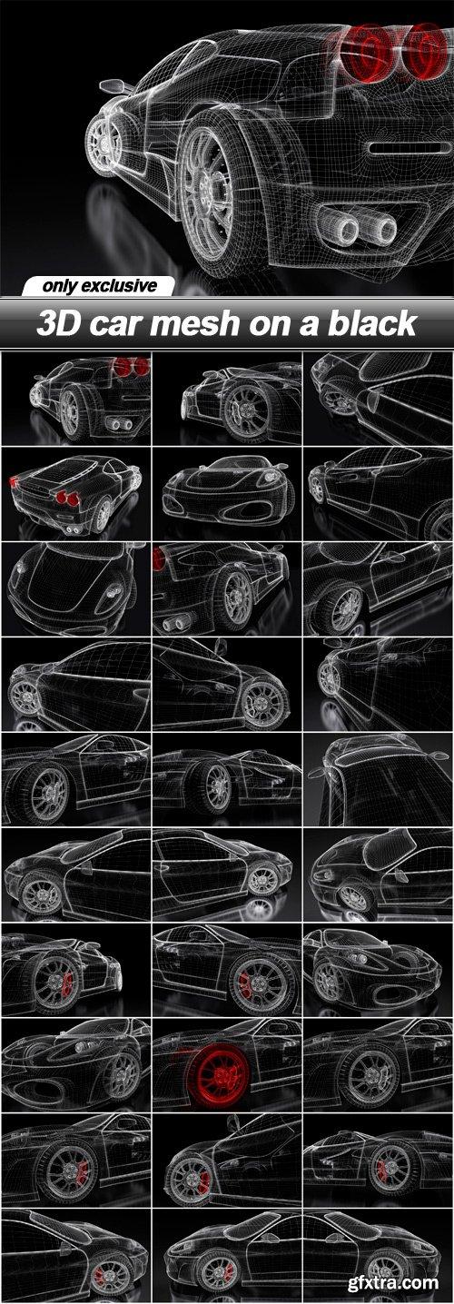 3D car mesh on a black - 30 UHQ JPEG