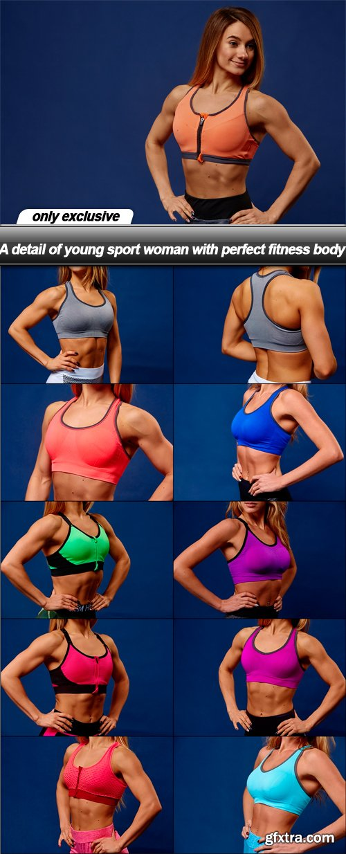 A detail of young sport woman with perfect fitness body - 11 UHQ JPEG