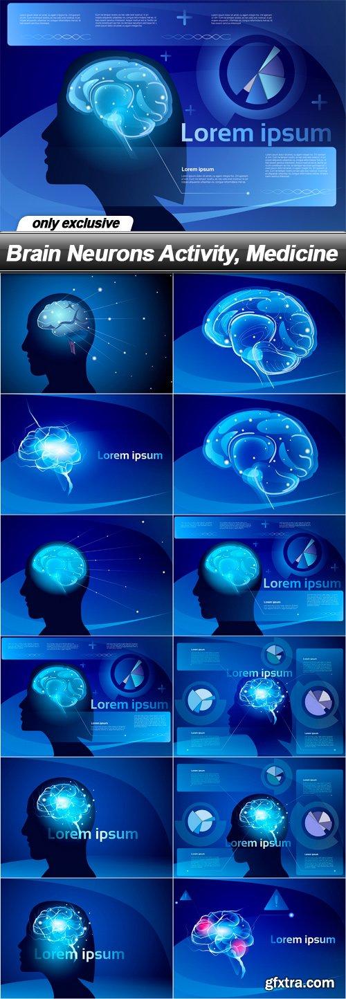 Brain Neurons Activity, Medicine - 12 EPS