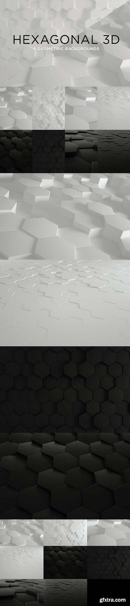CM - 3D Geometric Background - Hexagons 1270760