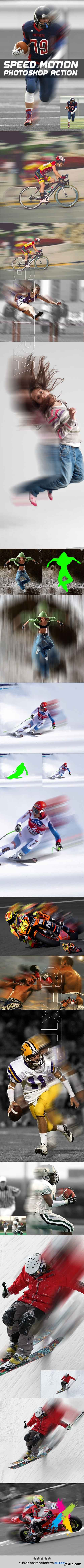 Graphicriver - Speed Motion Photoshop Action 20158455