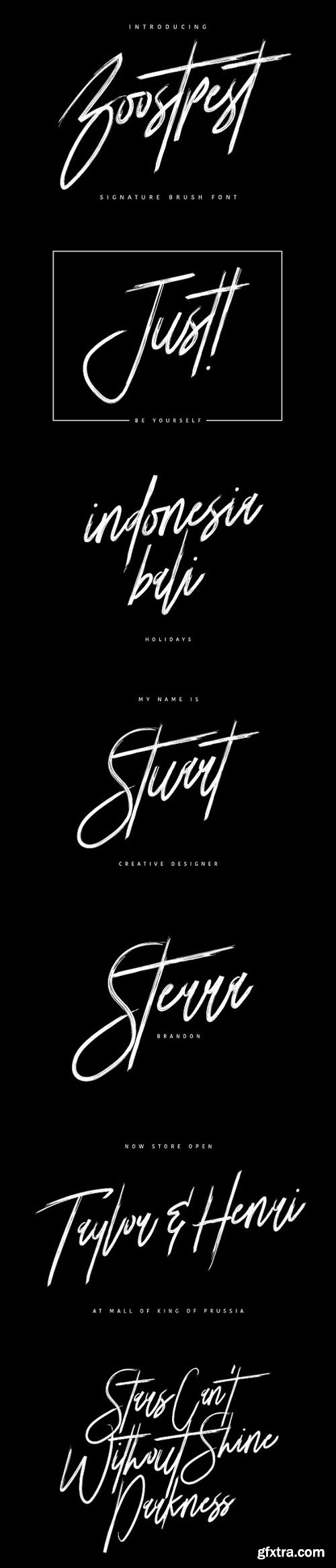 CM - Boostpest Signature Brush Font 1530236