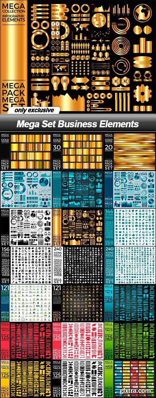 Mega Set Business Elements - 21 EPS