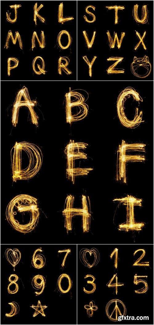 Collection alphabet 5X JPEG