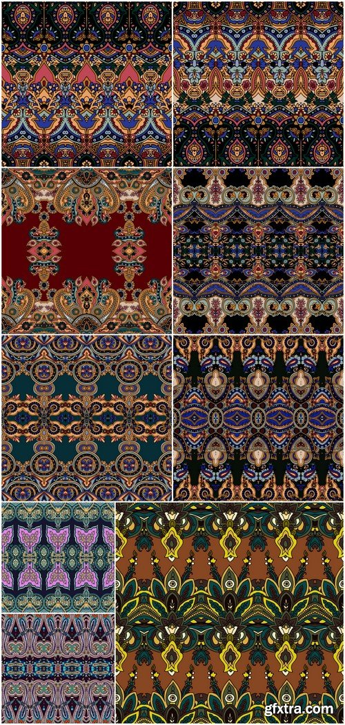 Seamless pattern ornament 9X EPS