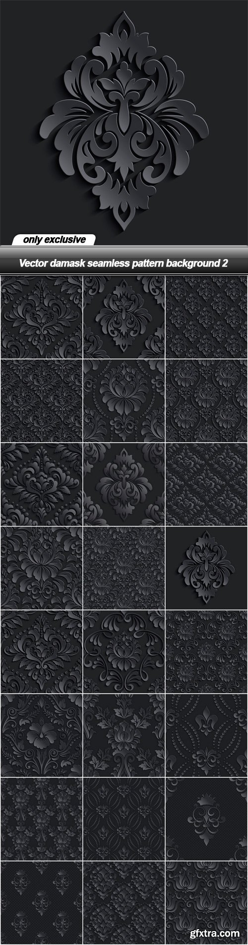 Vector damask seamless pattern background 2 - 25 EPS
