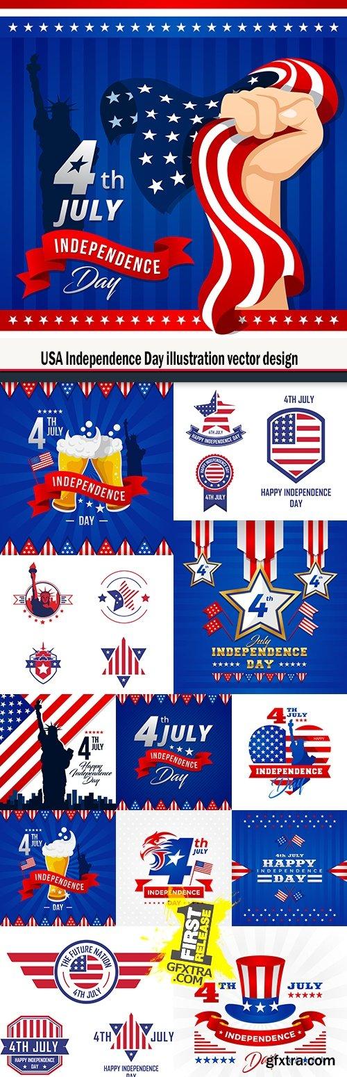 USA Independence Day illustration vector design