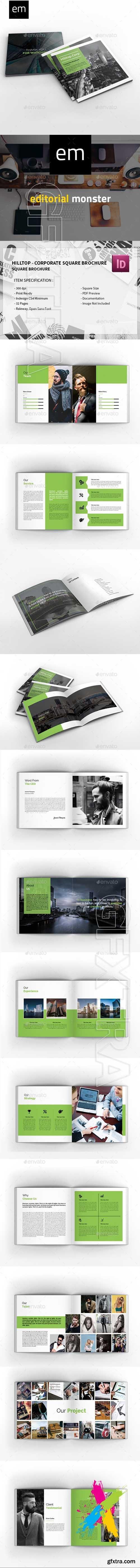 Graphicriver - Hilltop - Corporate Square Brochure 20206347
