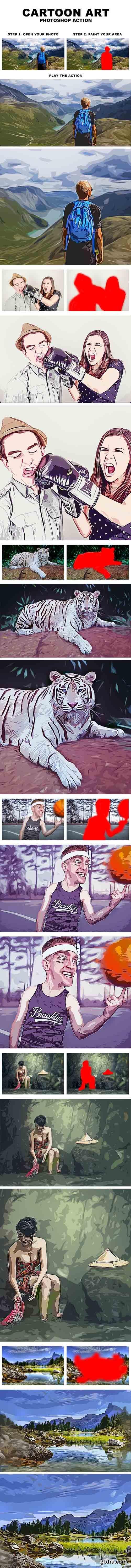 Graphicriver - Cartoon Art Photoshop Action 20203842