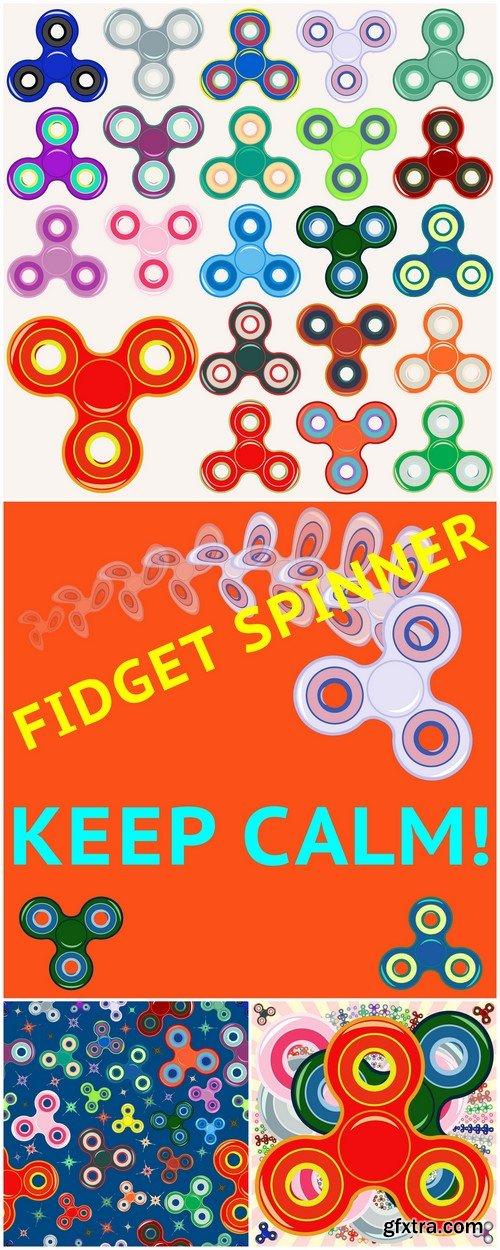 Hand spinner toys Vector illustration 4X EPS