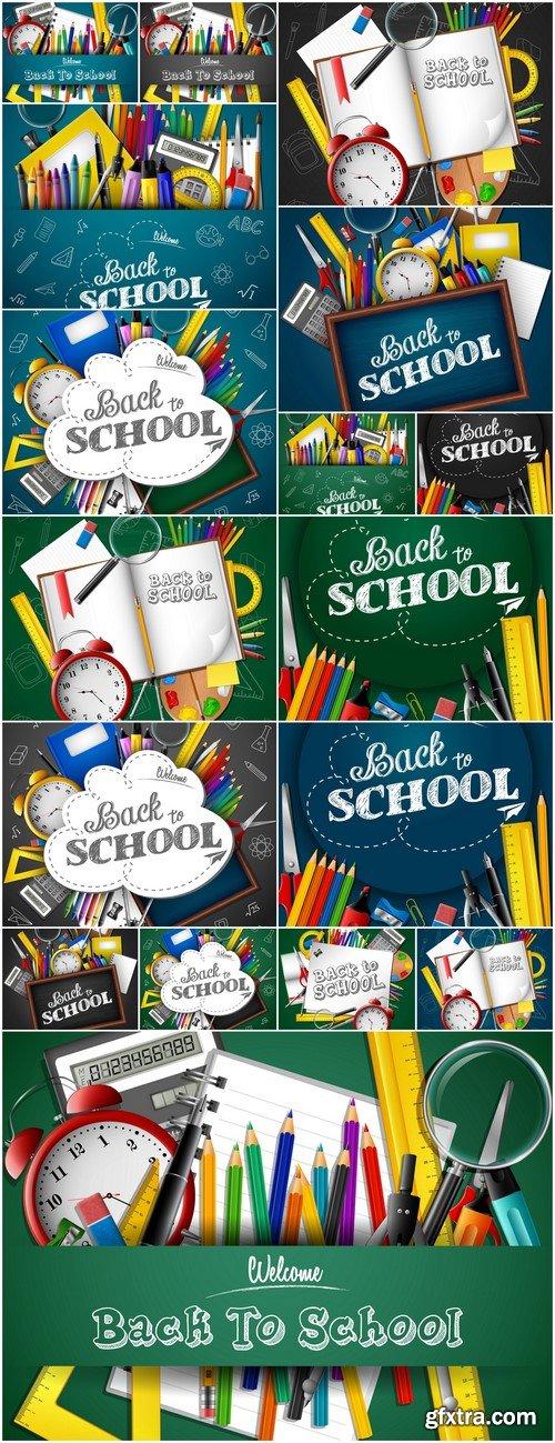 Banner School Vector Illustration # 1 17X EPS