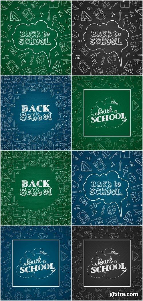 Banner School Vector Illustration # 2 8X EPS
