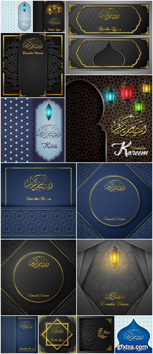 Ramadan Kareem vector greeting card 18X EPS