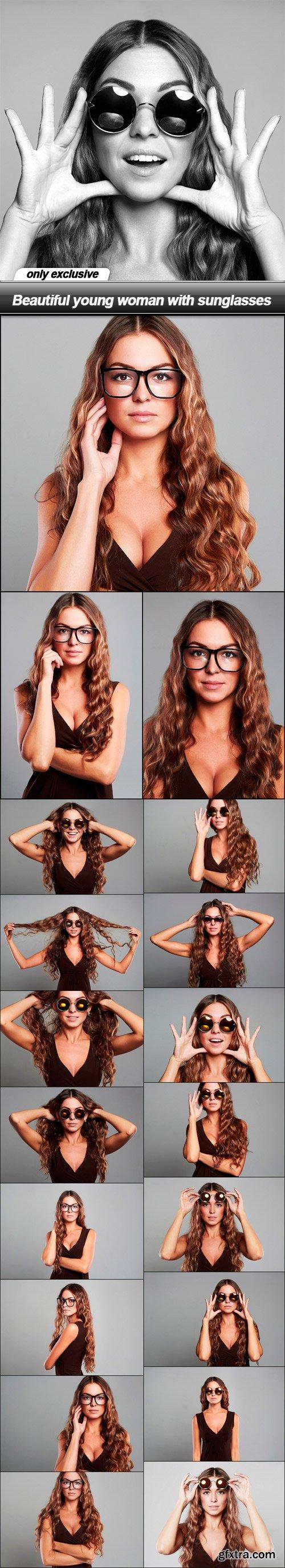 Beautiful young woman with sunglasses - 20 UHQ JPEG