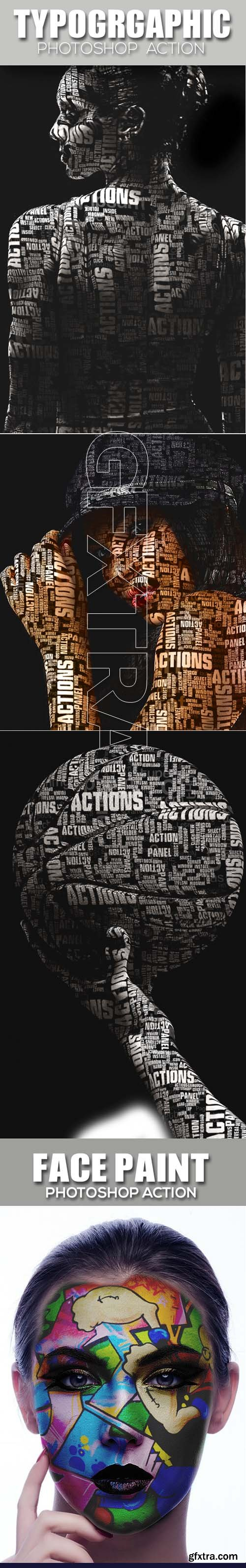 Graphicriver - Photoshop 4in1 Actions Bundle 20217745