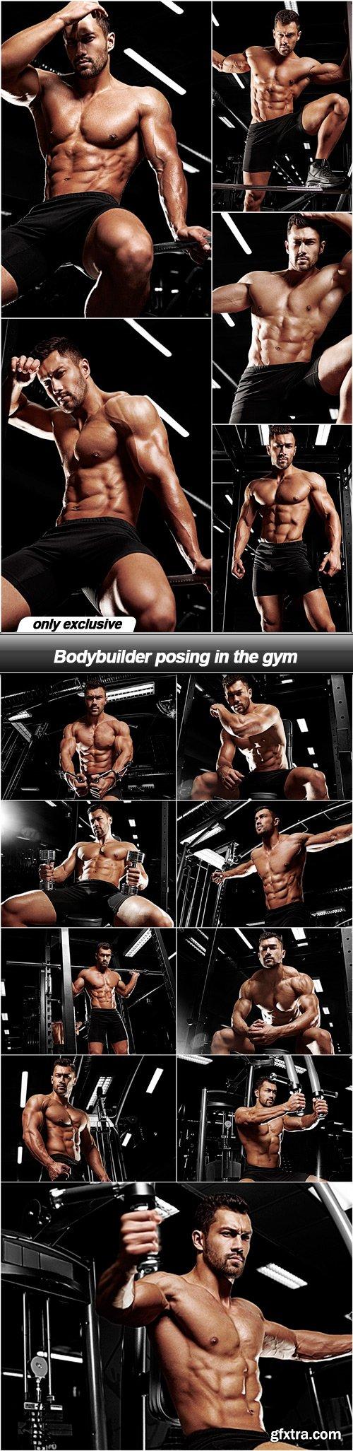Bodybuilder posing in the gym - 14 UHQ JPEG