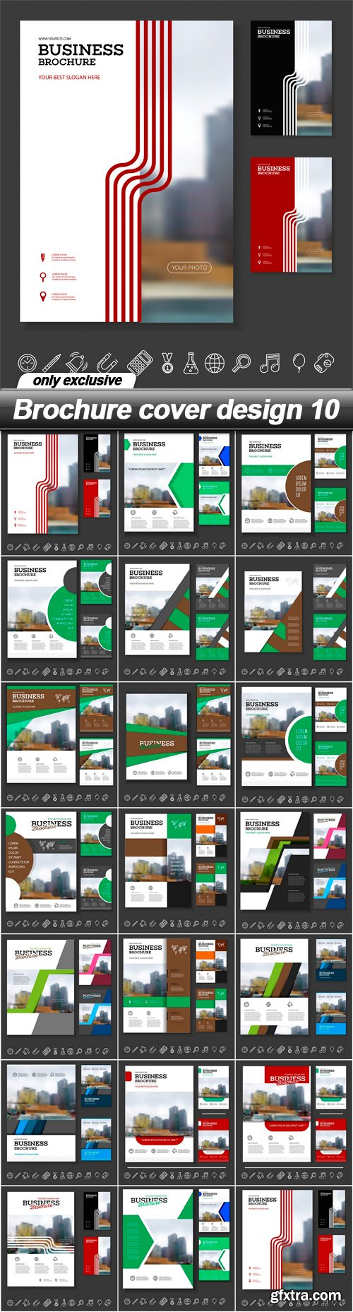 Brochure cover design 10 - 20 EPS