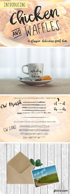 CM 1625547 - Chicken and Waffles Brush Script