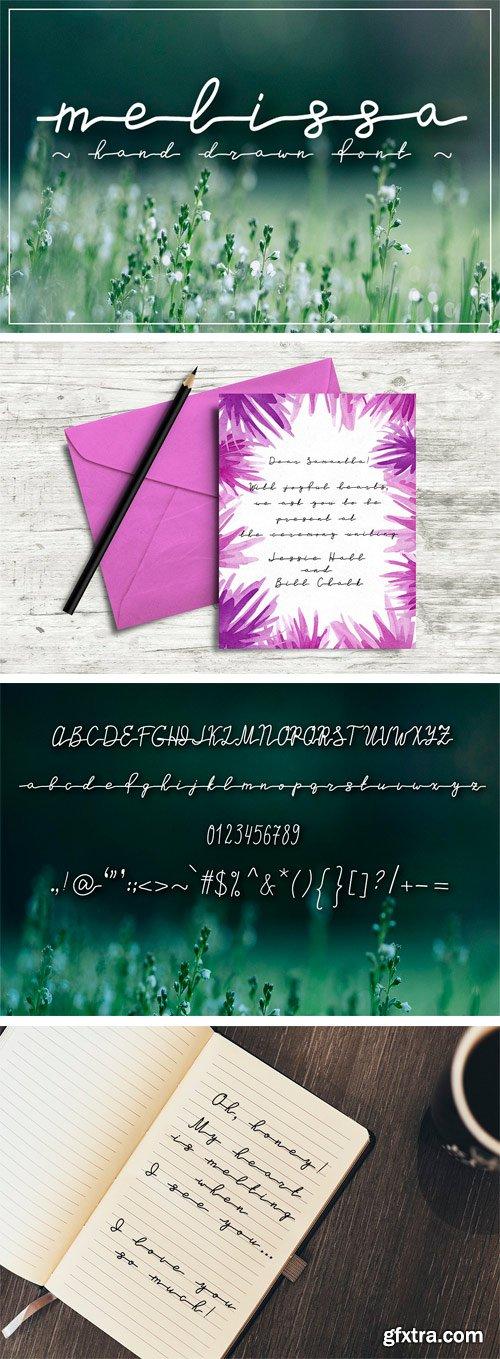 CM 1625458 - Melissa - Hand Drawn Script Font