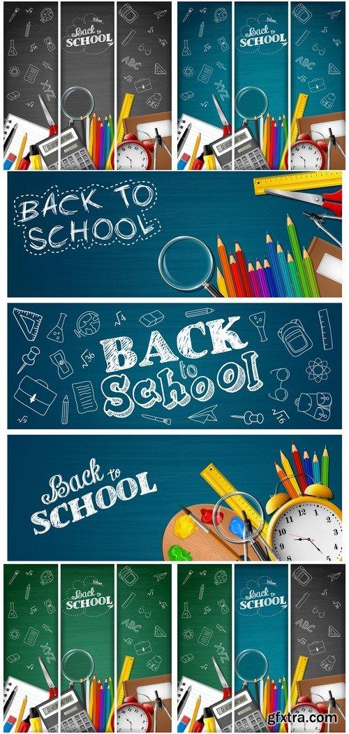 Banner School Vector Illustration # 3 5X EPS