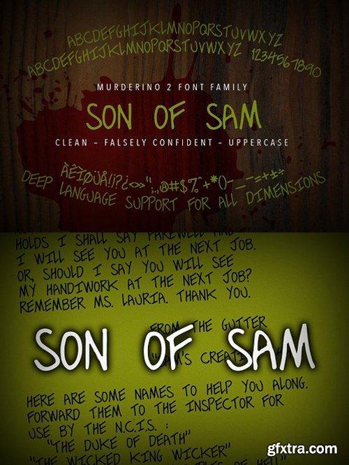 CM - Murderino 2 Son of Sam Typeface 1593100