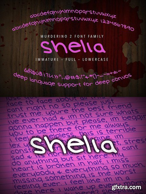 CM - Murderino 2 Shelia Script Typeface 1593099