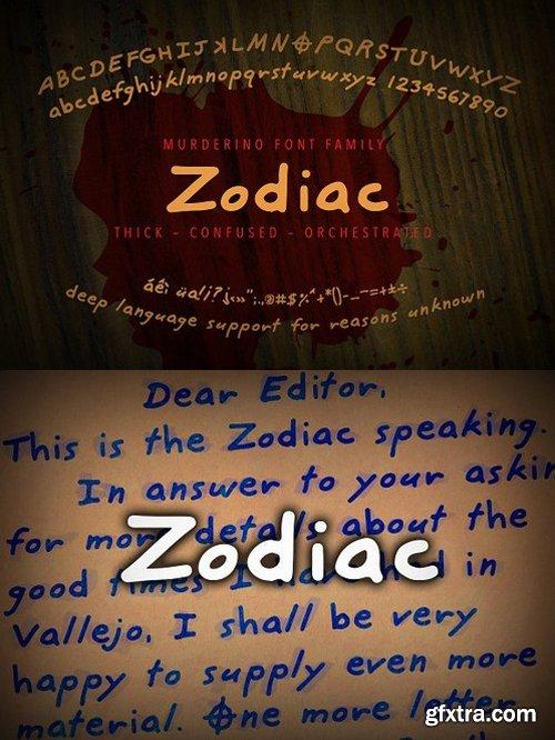 CM - Murderino Zodiac Script Typeface 1593057