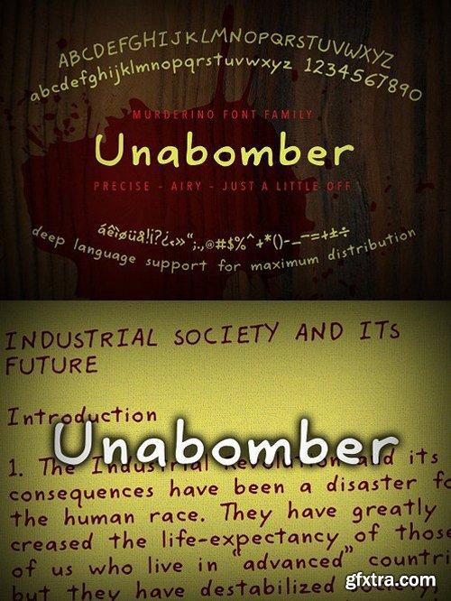 CM - Murderino Unabomber Script Typeface 1593055
