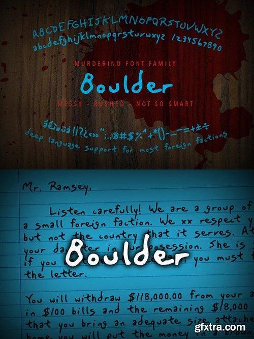 CM - Murderino Boulder Script Typeface 1593051