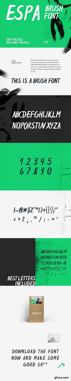 CM - Espa Brush Font 1593943