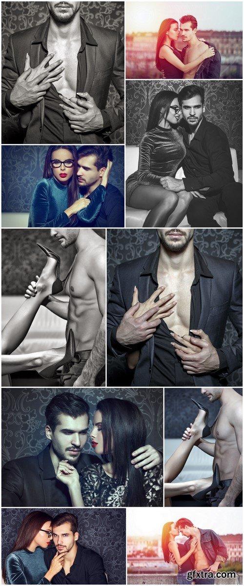 Romantic woman seducing young stylish rich man 10X JPEG