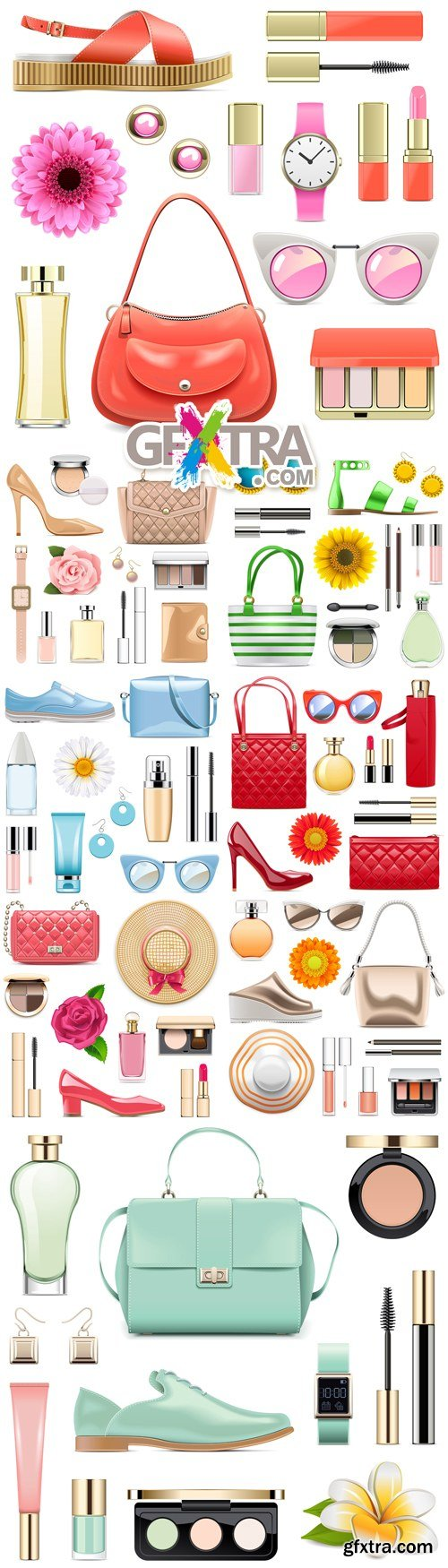 Fashion Accessories Icons Vector