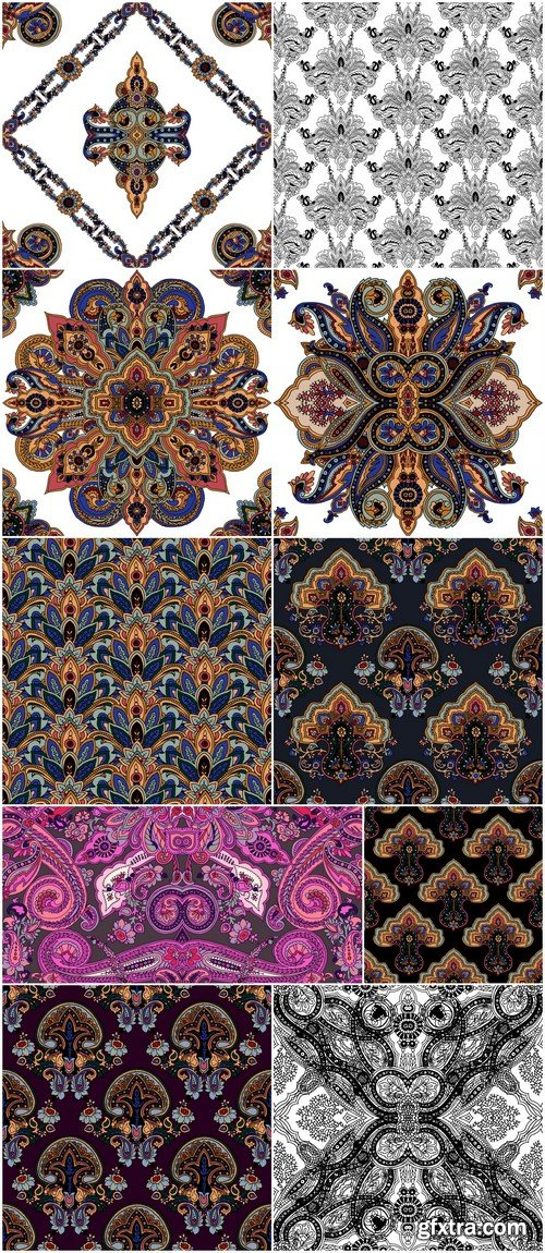 Seamless pattern ornament #4 10X EPS
