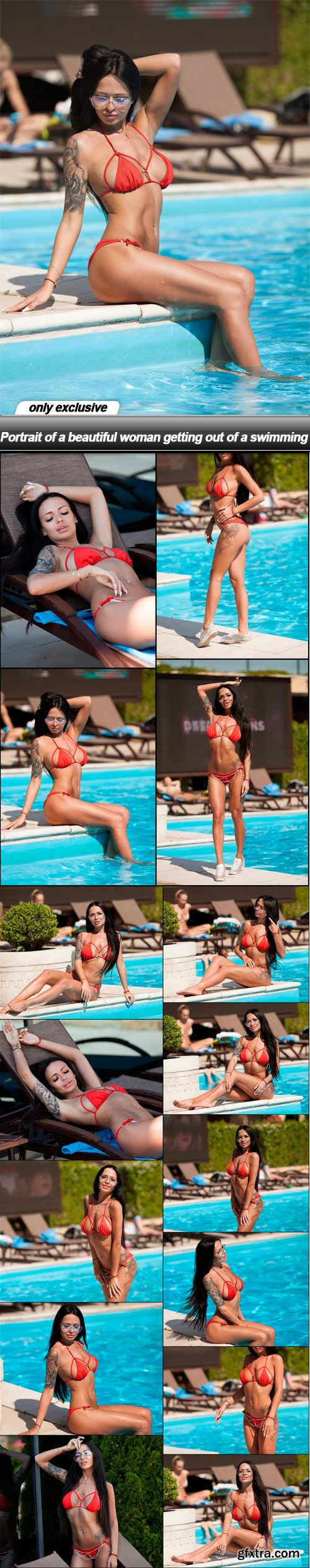 Portrait of a beautiful woman getting out of a swimming - 15 UHQ JPEG
