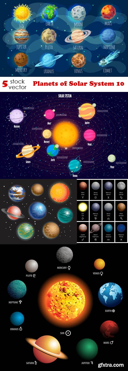 Vectors - Planets of Solar System 10